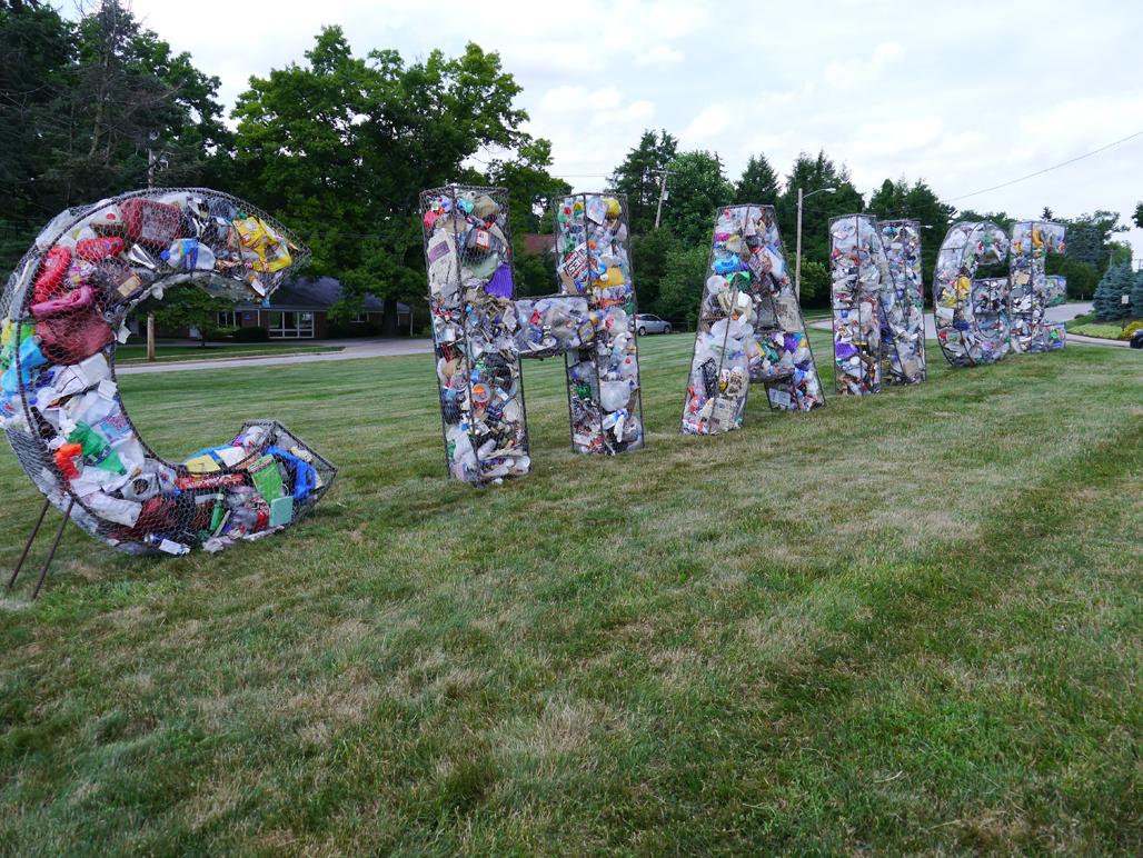 Litter Letters installed in Pennsilvania