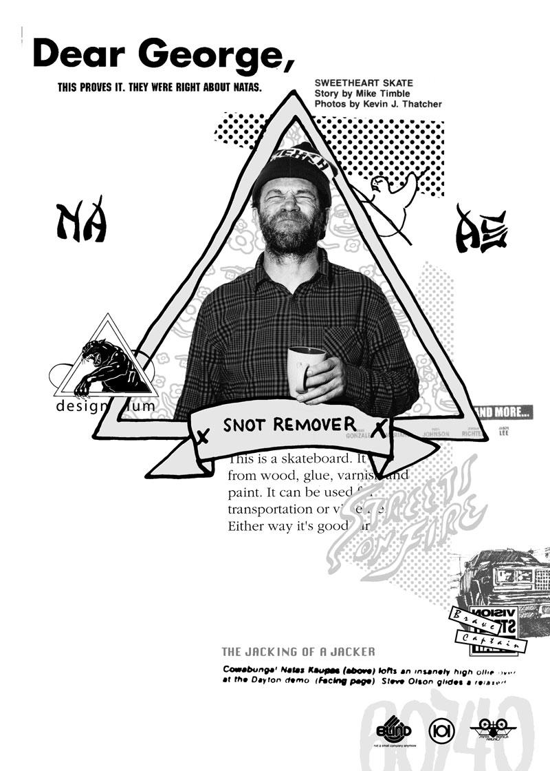 """Gonz & Natas"" (2015) 6x9"" digital collage for Ed Syder's Natas & Gonz book. Sheffield UK."