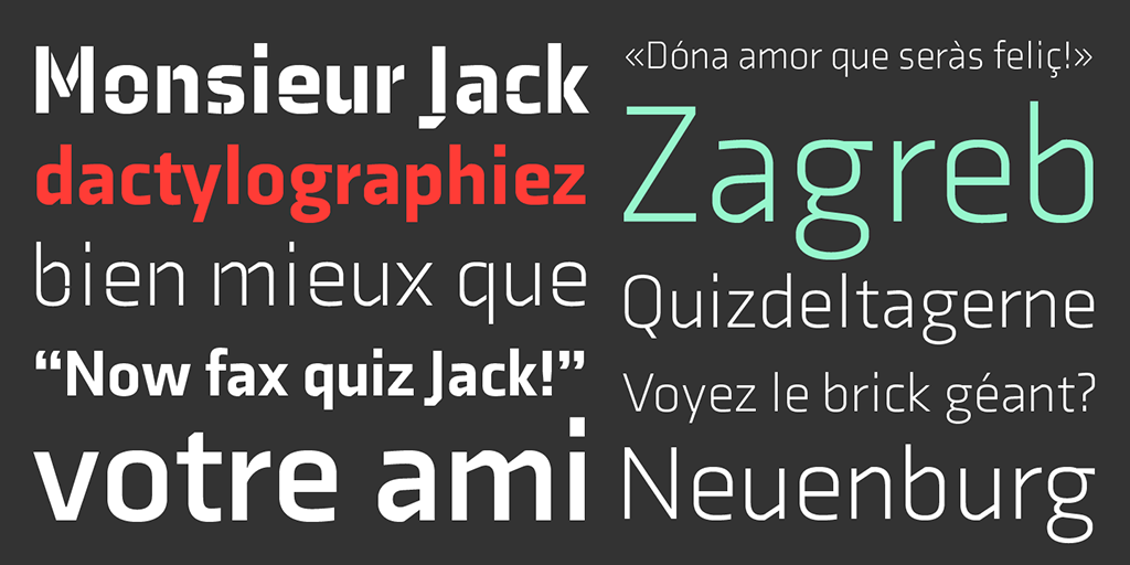 Sibylle Hagmann's recent typeface family Axia, also from Kontour.