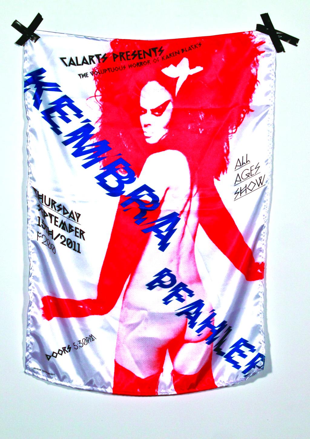 Visiting artist announcement for Kembra Phaler, CalArts, 2011
