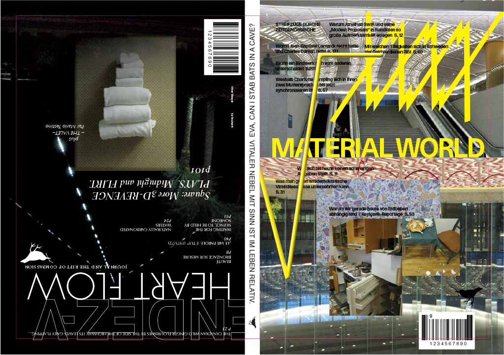 """These are the front and back covers and the spine of a book, which graphics are both fictional, as they are speaking about contents that is not contained inside, as well as factual, as they are designed, printed and bound and hence manifest just as all commercially available magazines are."""