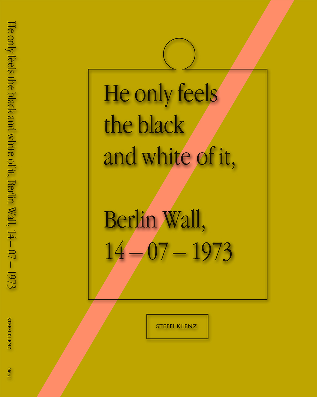 """I design quite a few books and publications, mostly for the cultural sector. This is the cover of the artist book I designed in collaboration with artist Steffi Klenz. It's a book centered around one Associate Press photograph of the Berlin Wall and daily life and tensions in a family in socialist East-Germany."""