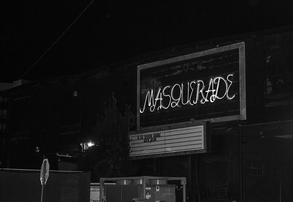 Semester 3 Photograph 1-3: These photos were taken at The Masquerade, located in Atlanta, GA, on the final night it was open as a club venue. The historic location was once an excelsior mill before becoming The Masquerade in the 1980s. Created in my third semester at VCFA.