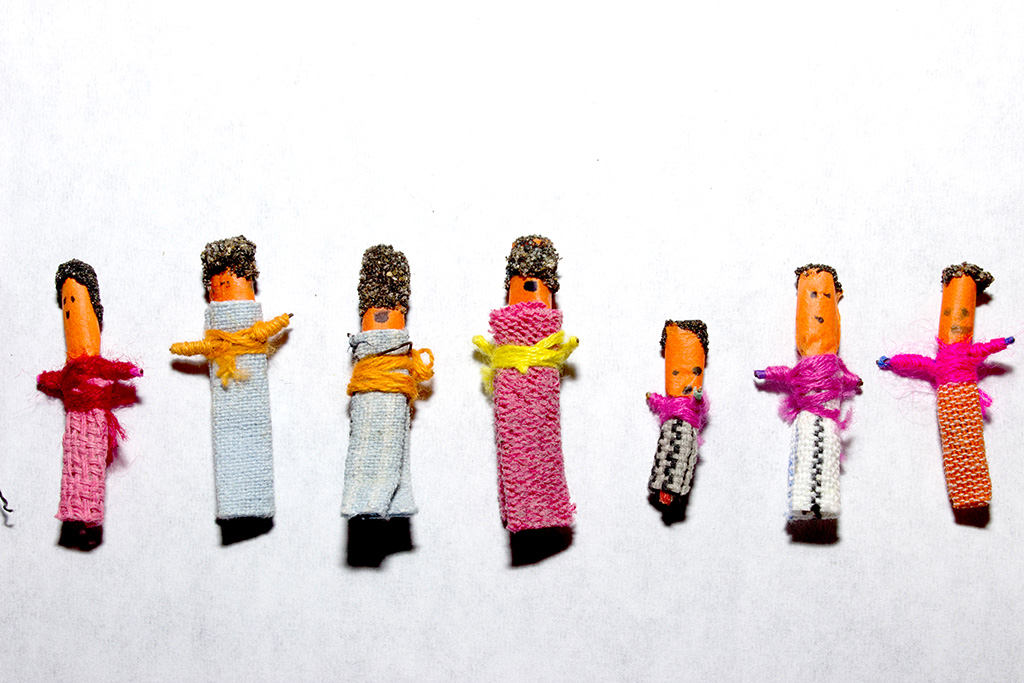 Worry dolls, used in a packet as part of an essay on worry dolls.