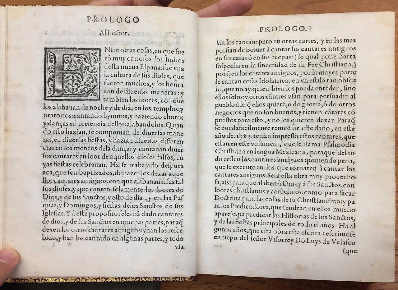 (Fig 08, Christian Psalmody, and Sermons of the Saints of the Year, in Mexican Language)